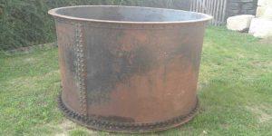Antike Baustoffe Produkt Eisenbottich