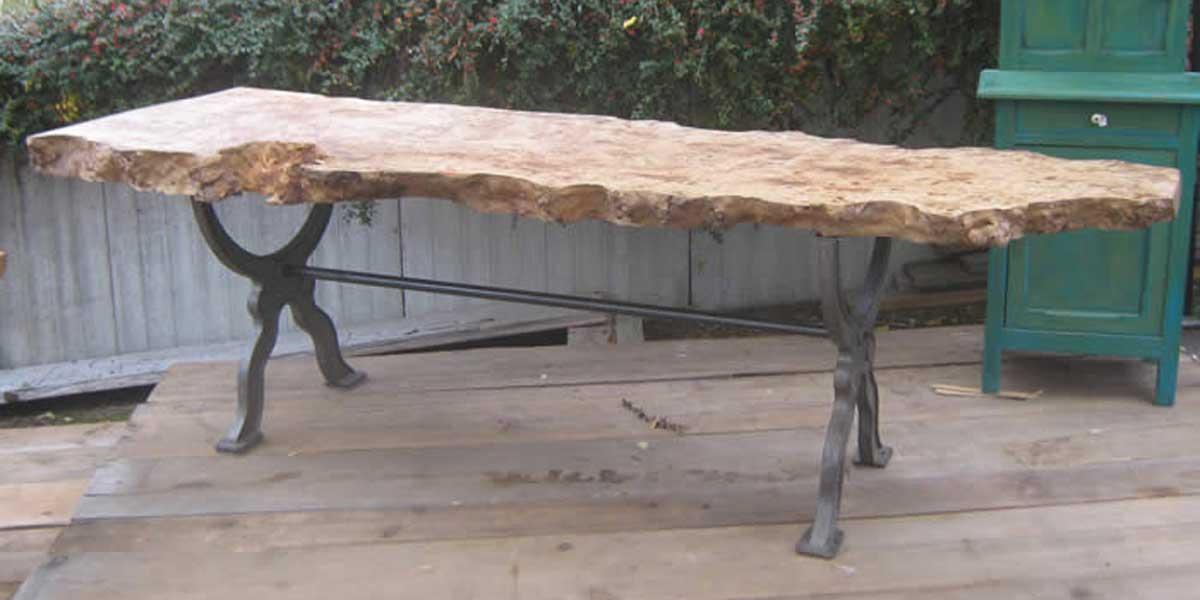 Antike Baustoffe Produkt Pappeltisch